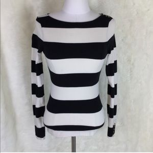 🎈FREE! H&M black and white striped long sleeve